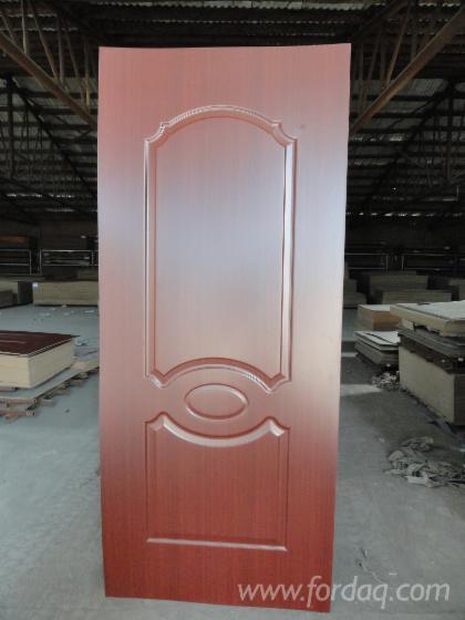 Wood-grain-Melamine-HDF-moulded-door