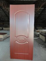 Wood grain Melamine HDF moulded door skin