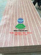 Grooved plywood for decoration