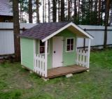 Wood Houses - Precut Timber Framing Spruce Picea Abies - Whitewood - Playhouse