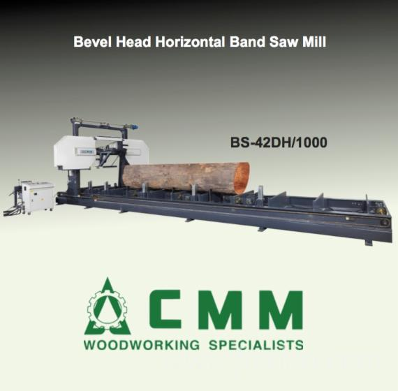 Bevel-Head-Horizontal-Band-Saw-Mill