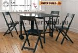 Dining Room Furniture - Small Space Solution Range - Flat Butterfly Set- Luxury indoor wood dinning room set