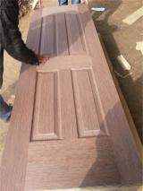 Wenge HDF moulded door skin for wooden door