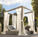 Garden Furniture - Aland Collection - Poly Rattan Outdoor Sunbed - RABD 106