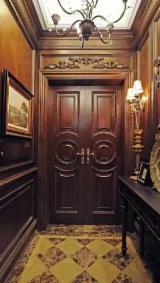 Holzkomponenten, Hobelware, Türen & Fenster, Häuser Nordamerika - Europäisches Laubholz, Türen, Ahorn, Geflammt