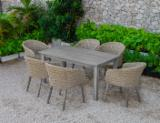 Garden Furniture - Canary Collection - Poly Rattan Dining Set - RADS 156