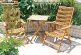 Garden Furniture FSC For Sale - Comfortable 5 position chair set- solid wood outdoor patio gardern furniture