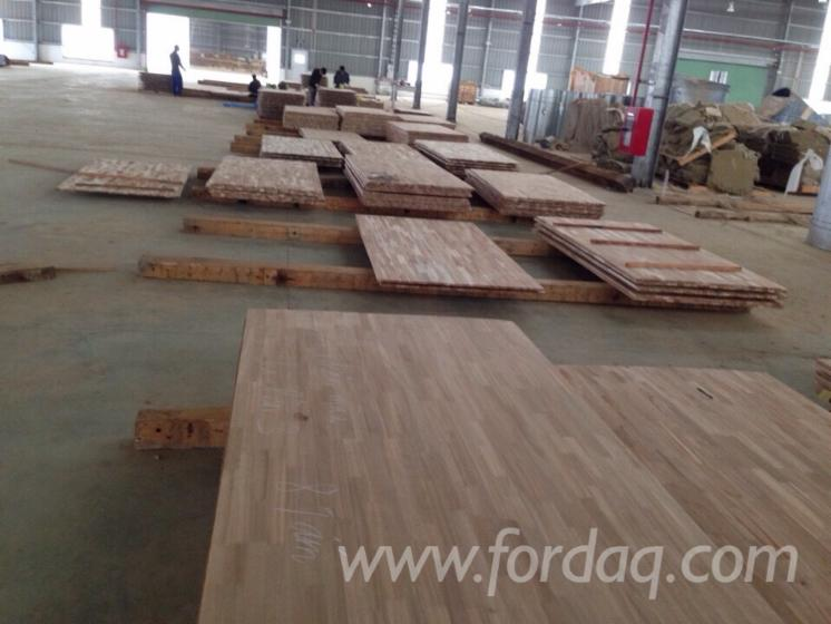 Joined Hardwood Laminated Board ~ Acacia finger joined laminated board for worktops