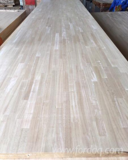 Rubber wood laminated board finger joined