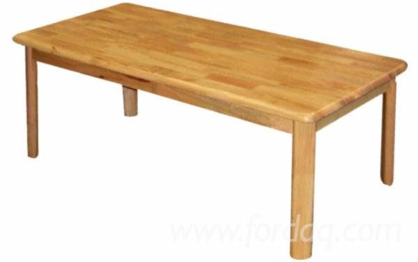 Rubberwood Modern Coffee Table