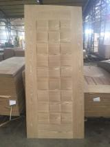 Engineered Wood Panels - Ash veneered hdf door skin, ash veneered mdf door skin