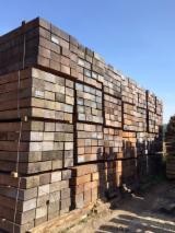 Hardwood  Sawn Timber - Lumber - Planed Timber For Sale - Azobe Railway Sleepers, AD, 15 x 26 cm