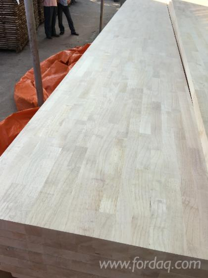 Joined Hardwood Laminated Board ~ Rubber wood finger joined laminated board