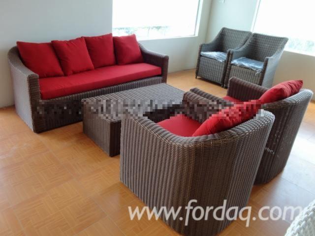 poly rattan furniture from vietnam wicker outdoor garden set. Black Bedroom Furniture Sets. Home Design Ideas