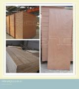 Wood Doors, Windows And Stairs - OKOUME FLAT WOODEN DOOR
