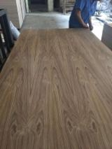 null - Crown cut teak veneered plywood with hardwood core, teak fancy plywood