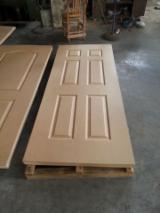 HDF - 3.0-5.0mm plain mdf door skin, raw hdf moulded door skin