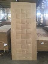 Ash veneered hdf moulded door skin, ash mdf door skin for Pakistan & Egypt