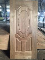 Black walnut veneered hdf moulded door skin, black walnut mdf door skin