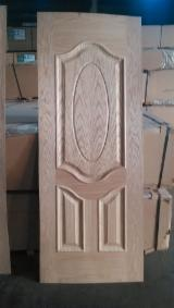 Red oak veneered hdf moulded door skin, red oak mdf door skin