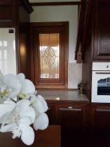 木质部件,木线条,们窗,木质房屋 - 欧洲硬木, 窗, 橡木