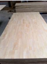 木皮和单板 - 1 层实木面板, 橡胶木