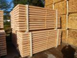 Posts (peeled, rounded, splits), D 50-100mm, Spruce/Pine