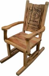 Garden Chairs Garden Furniture - Jack Daniels Rustic Oak Chair