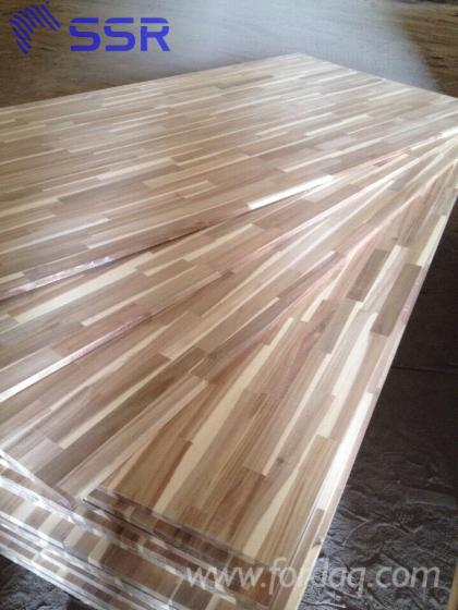 Joined Hardwood Laminated Board ~ Acacia wood finger joined laminated board