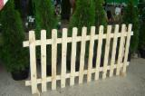Fences from pine poles