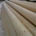 Conical Shaped Round Wood - Fir , Spruce  <250 mm AB Poles Romania