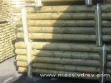 Venta Vigas Redondas Construcción Pino Silvestre  - Madera Roja Bielorrusia
