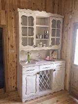 Design Kitchen Furniture - MASSIVE rustic cabinet colored in white - pick any color!