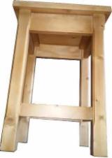 Mobilier De Bucatarie - Taburet lemn masiv