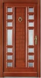 Wood Doors, Windows And Stairs - JJ4 Massive entrance doors