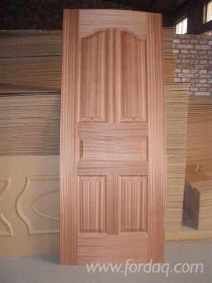 Sapele Veneered Hdf Moulded Door Skin Sapelli Mdf Door Skin
