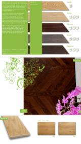 Engineered Wood Flooring - Multilayered Wood Flooring FSC - 2 layered oak parquet - fishbone