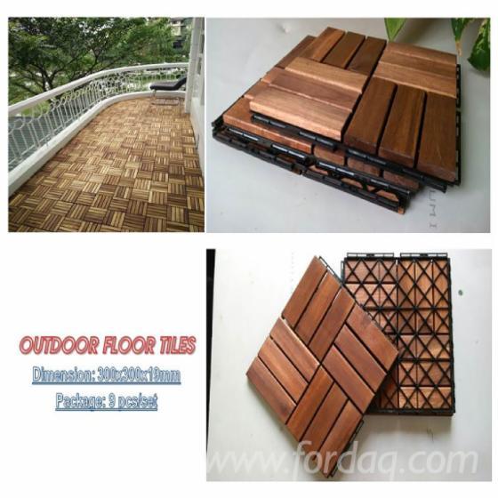 Interlocking Wood Deckingfloor Tiles For Garden Balcony Swimming Pool