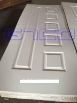 White primer MDF/HDF moulded door skin