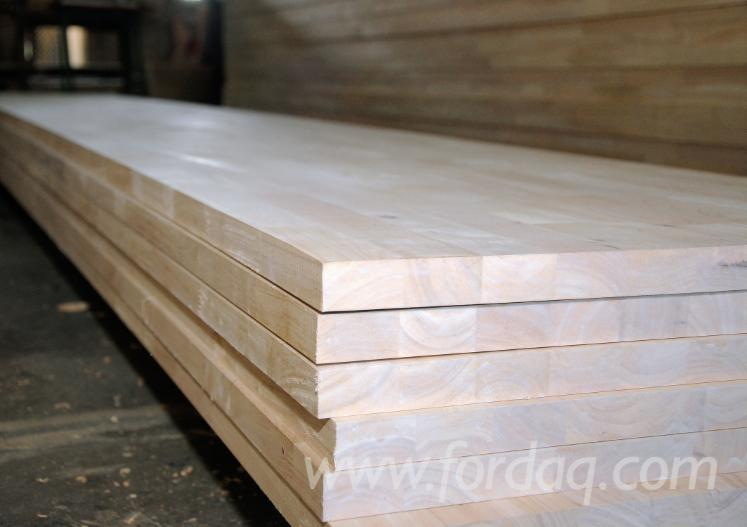 Joined Hardwood Laminated Board ~ Rubber wood finger joined laminated boards