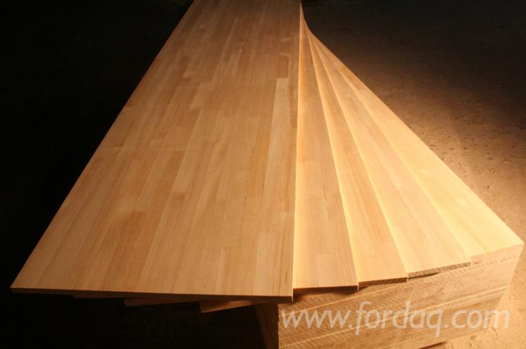 Pine solid wood panels, finger jointed - Pine Solid Wood Panels, C/C Quality, Finger Jointed