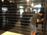 Black high glossy mdf slotted board
