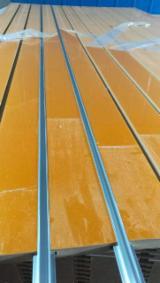 Yellow pvc design mdf slatwall panels
