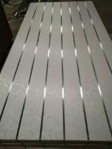 White design melamine mdf slotted board