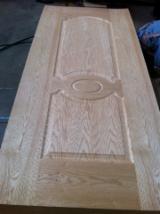 3.0mm red oak veneered hdf moulded door skin, red oak mdf door skin