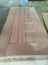 Sapelli mdf, hdf door skin with cheap price