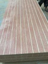 Plywood For Sale - Grooved Bintangor plywood for decoration