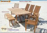 Garden Tables Garden Furniture - Adjustable Solid Wood Stockholm Magic Table