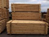 Drewno Iglaste  Kłody Na Sprzedaż - Palisada Toczona, Sosna Zwyczajna  - Redwood, FSC