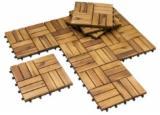 Exterior Decking  - Indoor outdoor garden acacia wood Interlocking Tiles Wood Decking Floor